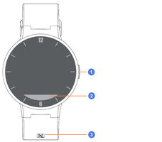 alcatel one touch watch descritption des touches de la montre