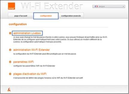 wi fi extender 200 mbit s installer avec la livebox 2 assistance orange. Black Bedroom Furniture Sets. Home Design Ideas