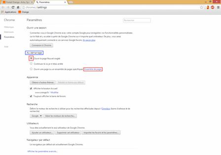 google chrome d finir la page d accueil assistance orange. Black Bedroom Furniture Sets. Home Design Ideas