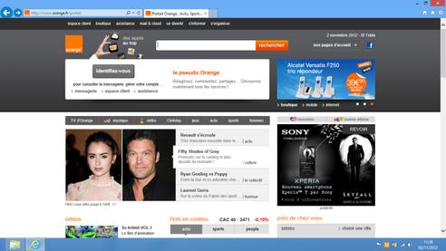 Internet explorer 11 d finir en page d accueil - Installer portail orange sur le bureau ...