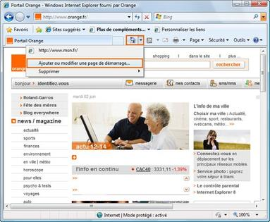 ancienne page accueil orange