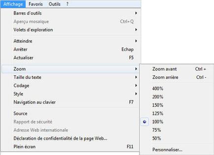 Internet Explorer 8 Zoomer Et Dezoomer Assistance Orange