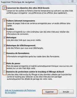 Internet Explorer 9 Effacer Les Cookies Et Les Donnees De