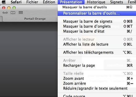 Safari Mac Afficher La Barre D Outils Assistance Orange
