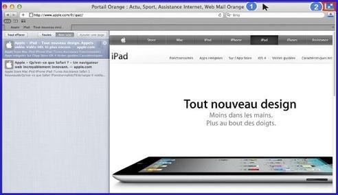 Safari mac afficher en plein cran assistance orange for Plein ecran photo mac