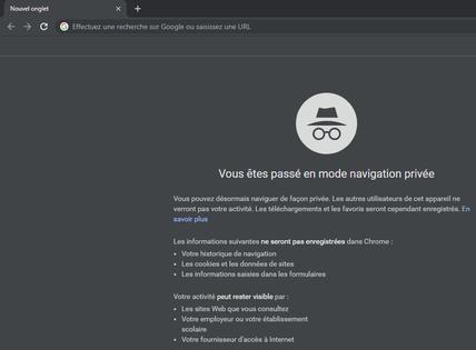 Google Chrome Utiliser La Navigation Privee Assistance Orange