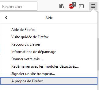 Mozilla Firefox : vérifier la version - Assistance Orange