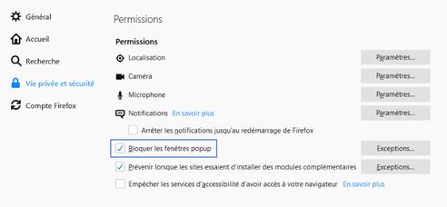 Mozilla Firefox Gérer Les Fenêtres Publicitaires Assistance Orange