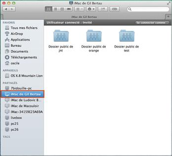 mac os partager vos fichiers en r seau local avec un autre mac assistance orange. Black Bedroom Furniture Sets. Home Design Ideas