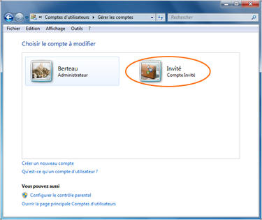 Windows 7 cr er un compte utilisateur assistance orange for Ouvrir fenetre plein ecran windows 7