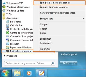 Comment trouver outils dans windows 7