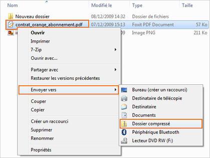 Windows 7 Compresser Un Fichier Ou Dossier Assistance Orange