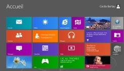 Interface Ecran d'accueil sous Windows 8