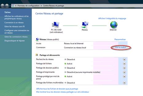 Adresse Ip L Identifier Sous Windows Vista Assistance Orange