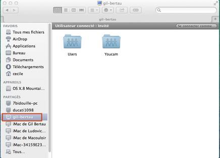 Mac partager vos fichiers en r seau local avec un pc for Mac fenetre hors ecran