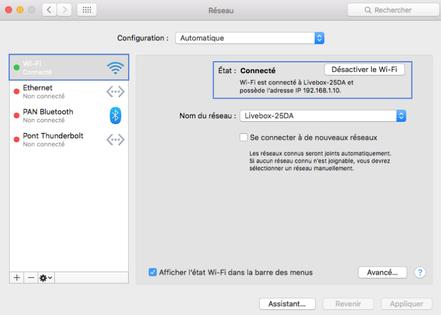Mac Os Connaitre Votre Adresse Ip Assistance Orange