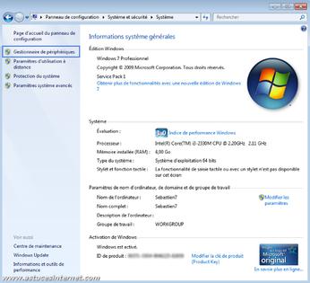 activer carte wifi windows 7 Windows 7 : réactiver une carte réseau   Assistance Orange