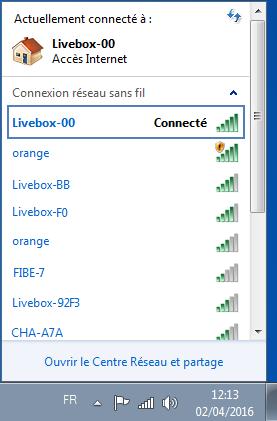 windows 7 se connecter en wifi la livebox assistance orange. Black Bedroom Furniture Sets. Home Design Ideas