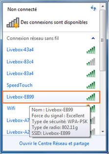 livebox pro configurer la connexion wifi avec windows 7 assistance orange. Black Bedroom Furniture Sets. Home Design Ideas