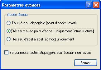 accès limité fenêtres sans fil 7 problème d'installation