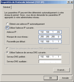 Windows Xp Configurer Un Ordinateur Avec Une Adresse Ip Fixe
