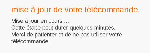 T l commande play noire avec clavier au dos r appairer - Application telecommande orange ...