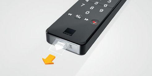 T l commande play noire avec clavier au dos r appairer - Pile telecommande orange ...