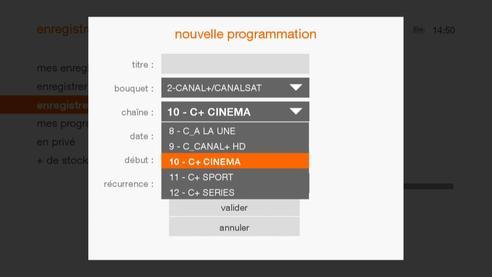canal programmer un enregistrement tv avec le d codeur livebox play assistance orange. Black Bedroom Furniture Sets. Home Design Ideas