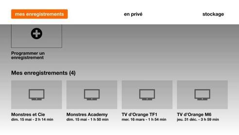 d codeur tv 4 menu d 39 accueil blanc visionner vos. Black Bedroom Furniture Sets. Home Design Ideas