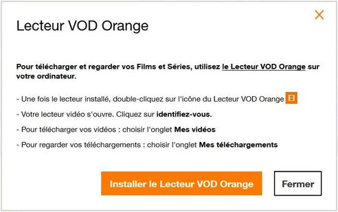 lecteur vod orange l 39 utiliser assistance orange. Black Bedroom Furniture Sets. Home Design Ideas