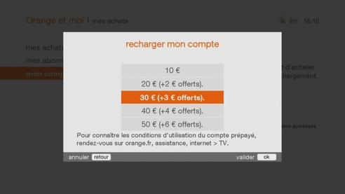 d codeurs livebox play et tv 4 recharger votre compte pr pay assistance orange. Black Bedroom Furniture Sets. Home Design Ideas