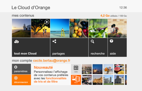 d codeur tv 4 acc der au cloud d orange assistance orange. Black Bedroom Furniture Sets. Home Design Ideas