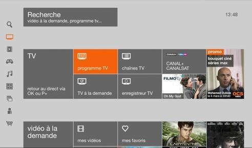 grille tv orange