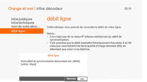 d codeur livebox play conna tre votre d bit assistance orange. Black Bedroom Furniture Sets. Home Design Ideas