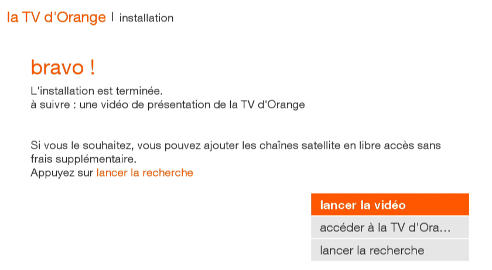 d codeur tv mettre en service la nouvelle tv d orange. Black Bedroom Furniture Sets. Home Design Ideas
