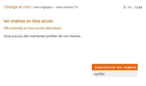 tv d 39 orange par satellite ajouter les cha nes en libre acc s assistance orange. Black Bedroom Furniture Sets. Home Design Ideas