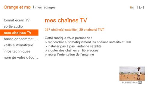 chaine tv orange