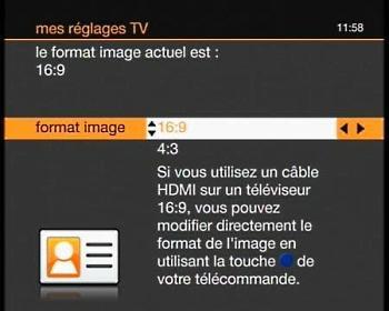 Tv d 39 orange par satellite v rifier le format d 39 cran tv - Changer telecommande orange ...