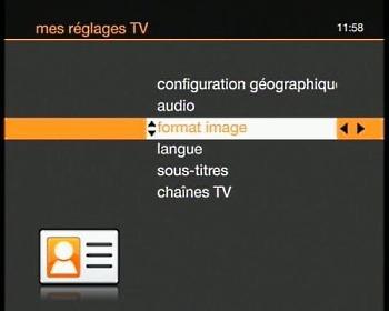 tv d 39 orange par satellite r gler le format d 39 cran tv assistance orange. Black Bedroom Furniture Sets. Home Design Ideas