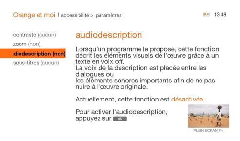 Décodeur UHD86/87/90 : activer l'audiodescription pour les