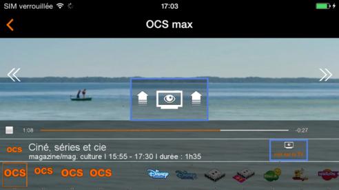 Application tv d 39 orange ios utiliser la fonction voir - Application telecommande orange ...