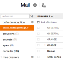 Mail d'Orange nouvelle version
