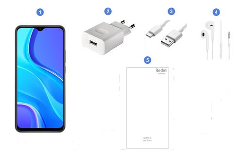 Xiaomi Redmi 9, contenu du coffret.