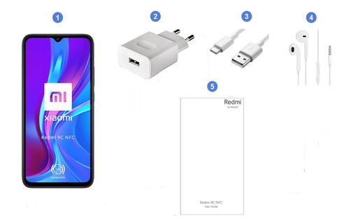 Xiaomi Redmi 9C NFC, contenu du coffret.