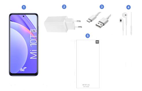 Xiaomi Mi 10T Lite 5G, contenu du coffret.