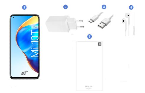 Xiaomi Mi 10T Pro 5G, contenu du coffret.