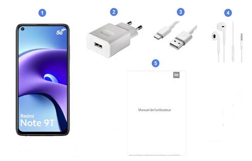 Xiaomi Redmi Note 9T 5G, contenu du coffret.