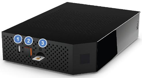 Vue de côté de la Livebox Pro V4
