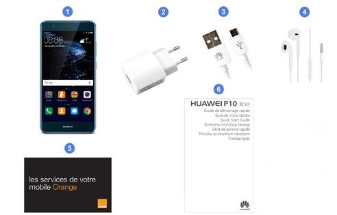 Huawei P10 Lite, contenu du coffret.
