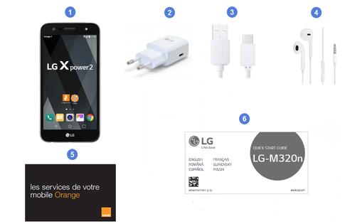 LG X power2, contenu du coffret.